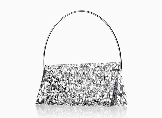 Handbag Gunilla in solid crystal by Lena Bergström