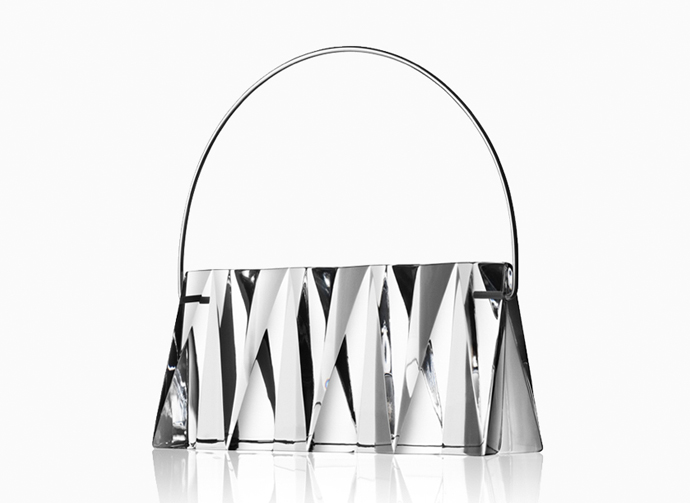 Handbag Kristina in solid crystal by Lena Bergström