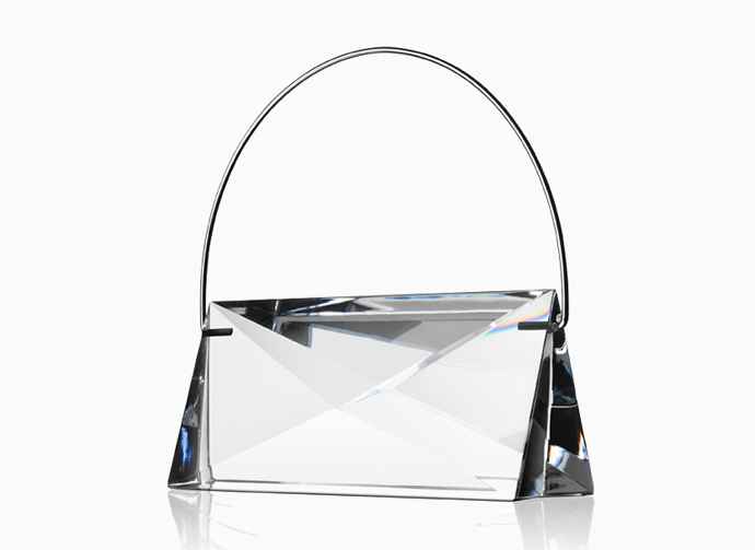 Handbag Siv in solid crystal by Lena Bergström