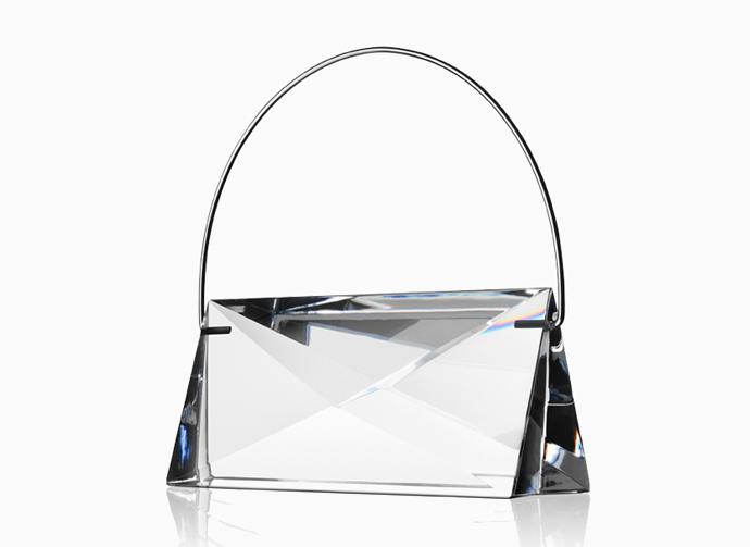 Handbag Siv in solid crystal by Lena Bergström