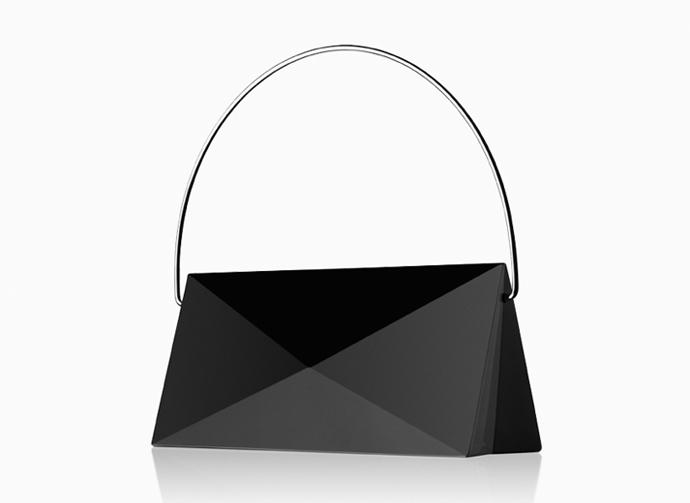 Handbag Lena in solid crystal by Lena Bergström