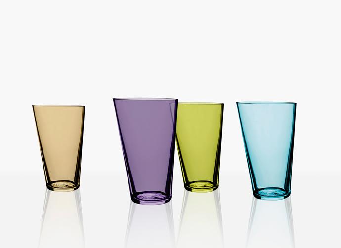 Mingle crystal tumblers. Design Lena Bergström. Orrefors 2005.