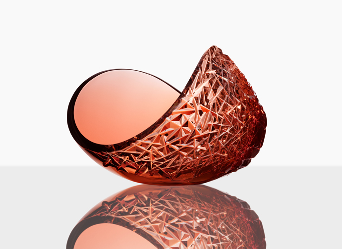 Planets crystal bowl by Lena Bergström Design